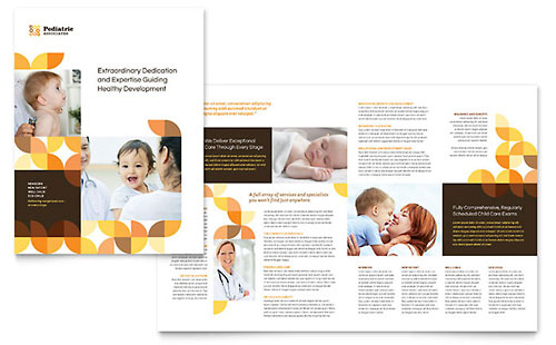 Pediatric Doctor InDesign Brochure Template