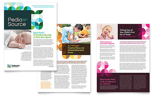 Pediatric Doctor Newsletter Template