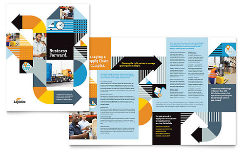 Logistics & Warehousing Brochure Template
