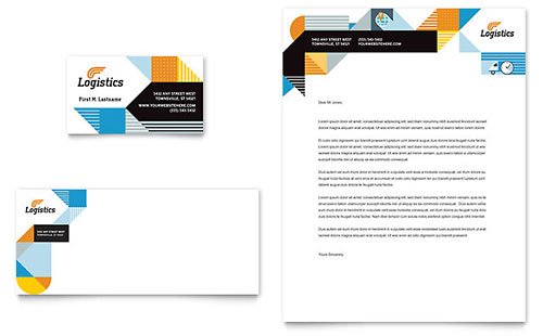 Logistics & Warehousing Business Card & Letterhead Template