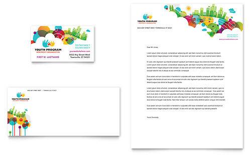 Youth Program - Business Card & Letterhead Template