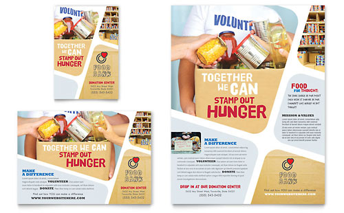Food Bank Volunteer Flyer & Ad Template