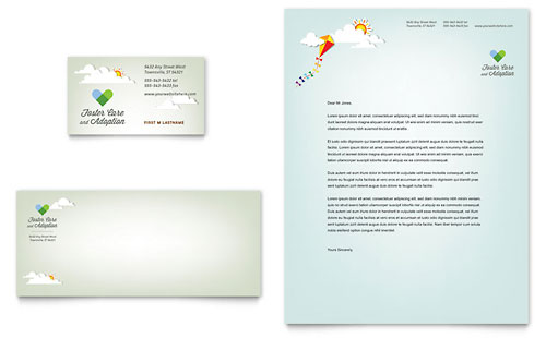 Foster Care & Adoption Business Card & Letterhead Template