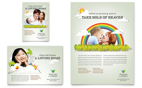 Foster Care & Adoption Flyer & Ad Template