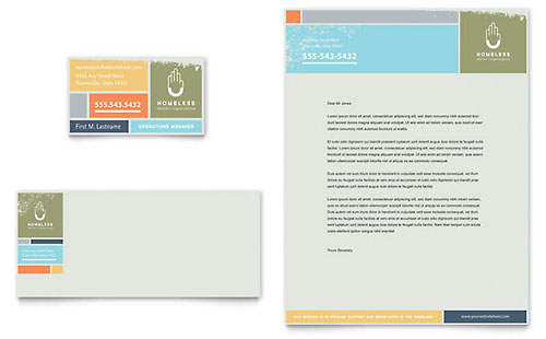 Homeless Shelter Business Card & Letterhead Template