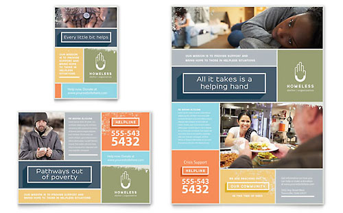 Homeless Shelter Flyer & Ad Template