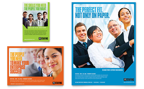 Staffing & Recruitment Agency Flyer & Ad Template