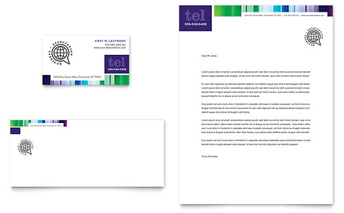 Business Leadership Conference Business Card & Letterhead Template