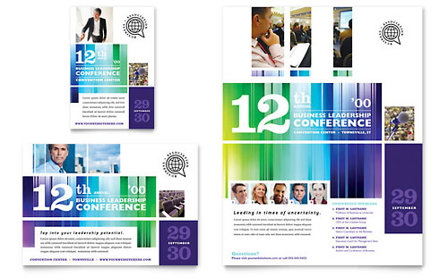Business Leadership Conference Flyer & Ad Template