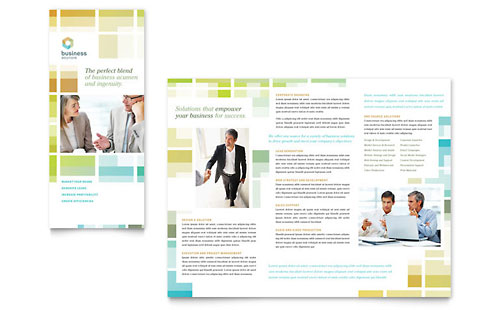 Business Solutions Consultant Tri Fold Brochure Template