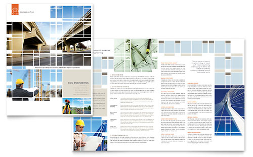 Civil Engineers Brochure Template