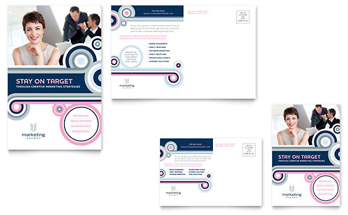 Marketing Agency Postcard Template