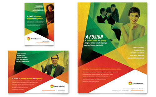Public Relations Company Flyer & Ad Template