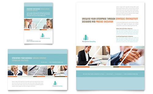 Management Consulting Flyer & Ad Template