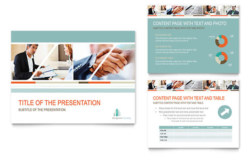 Management Consulting Presentation Template - PowerPoint
