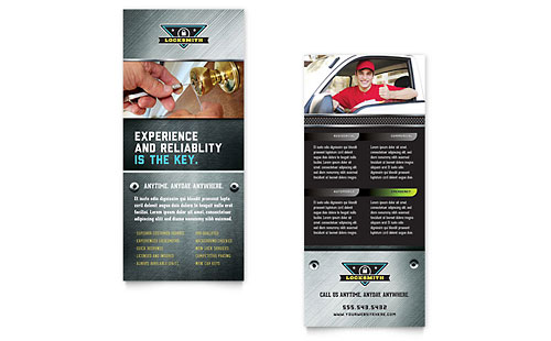 Locksmith Rack Card Template