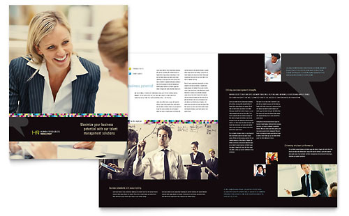 Human Resource Management Brochure Template