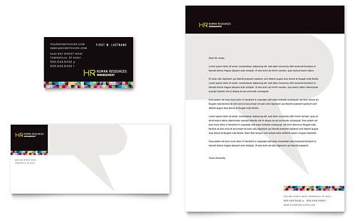 Human Resource Management Business Card & Letterhead Template
