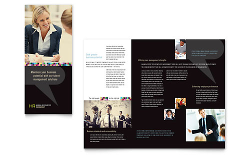 Human Resource Management Tri Fold Brochure Template