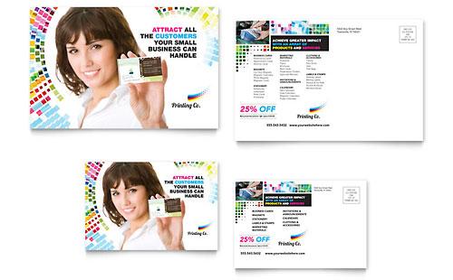 Printing Company - Postcard Template