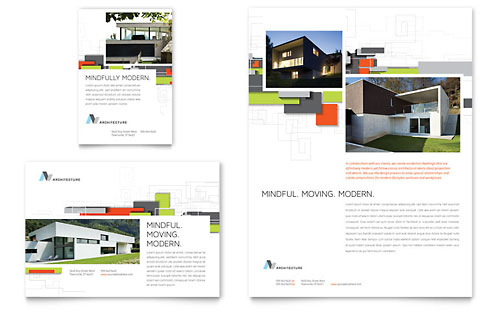 Professional services print ads templates designs for Ads architectural design services