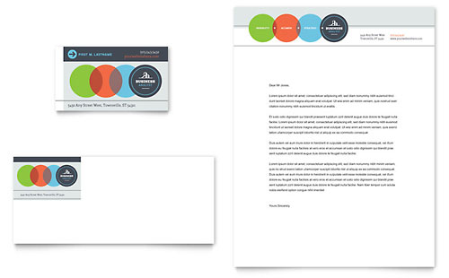 Business Analyst Business Card & Letterhead Template