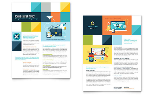 Advertising Company Datasheet Template