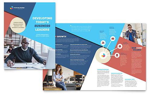 Corporate Strategy Brochure Template
