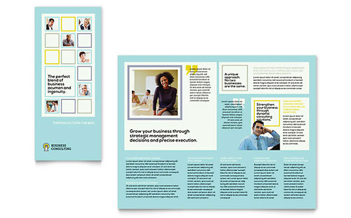 Business Consultants Tri Fold Brochure