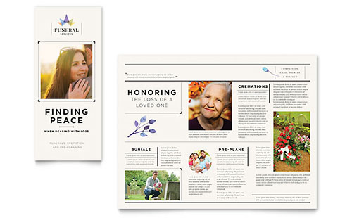 Funeral Services Brochure Template - Pages