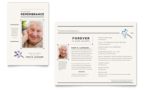 Funeral Services Newsletter Template
