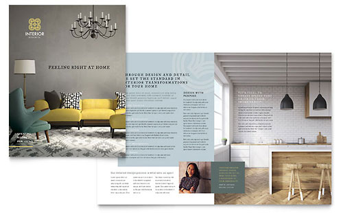 Interior Design - Sample Pamphlet Template