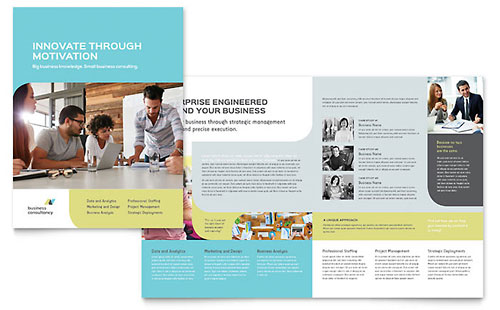 Small Business Consultant Brochure Template - Pages
