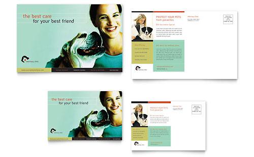 Veterinary Clinic Postcard Template