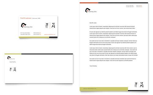Veterinary Clinic - Business Card & Letterhead Template