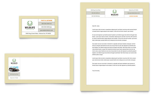 Nature & Wildlife Conservation - Business Card & Letterhead Template