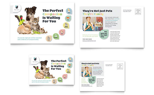 Pet Store Postcard Template
