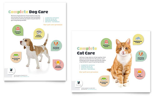 Pet Store Poster Template