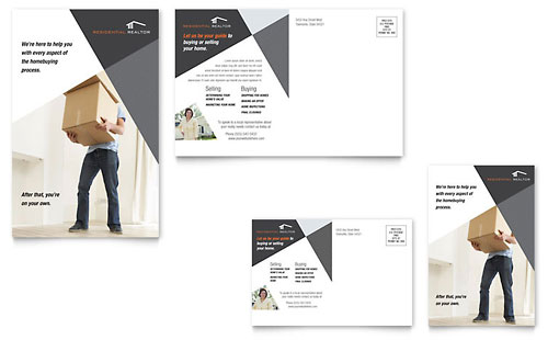 Contemporary & Modern Real Estate Postcard Template