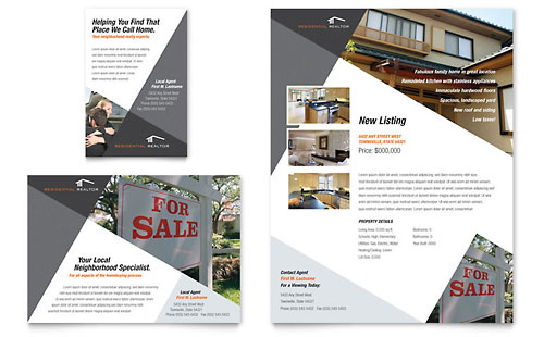 Contemporary & Modern Real Estate Flyer & Ad Template