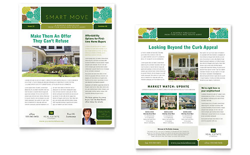 Real Estate Agent | 8.5x11 Newsletter Templates | Real Estate