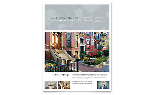 Townhouse Flyer Template