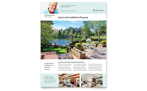Lakefront Property Flyer Template