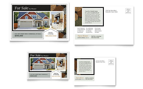 Suburban Real Estate Postcard Template