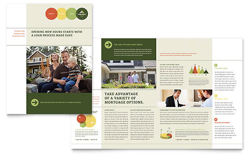 Mortgage Broker InDesign Brochure Template