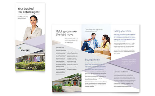 Realtor Print Design Brochure Template