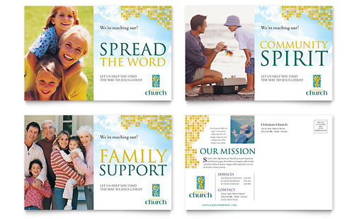 Christian Church Postcard Template