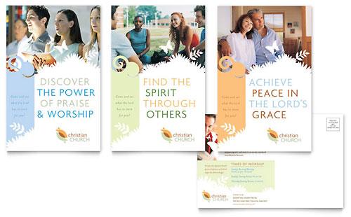 Christian Church Postcard Template