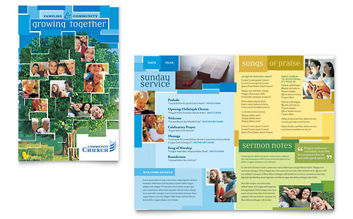 Community Church Brochure Template