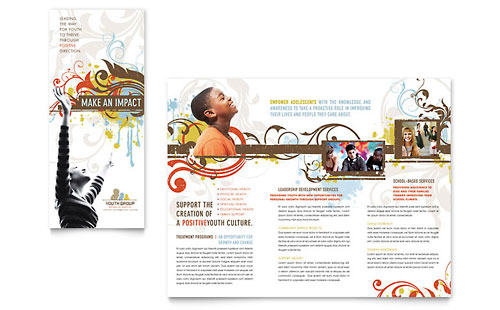 Church Youth Group Brochure Template